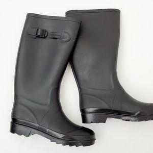 Marc Jacobs black matte rain boots size 7